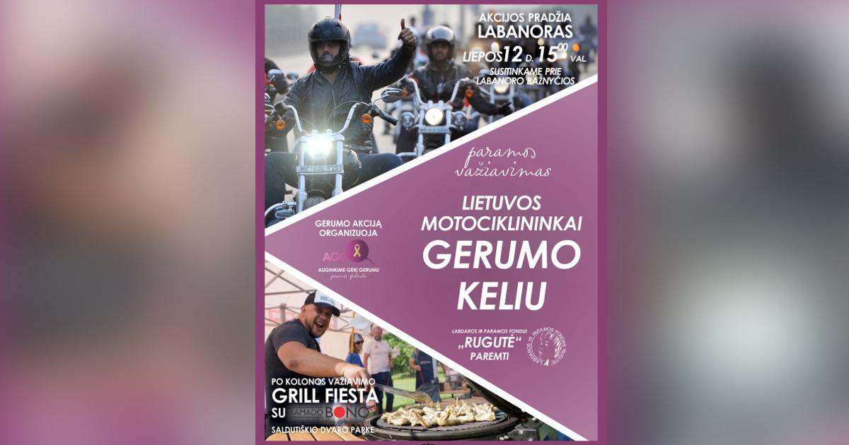 Lietuvos motociklininkai gerumo keliu
